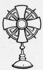 Paschaltide Customs Monstrance Coloring Page